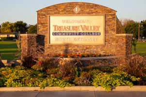 TVCC Ontario Campus entrance sign