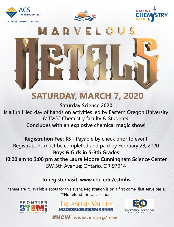 Saturday Science 2020